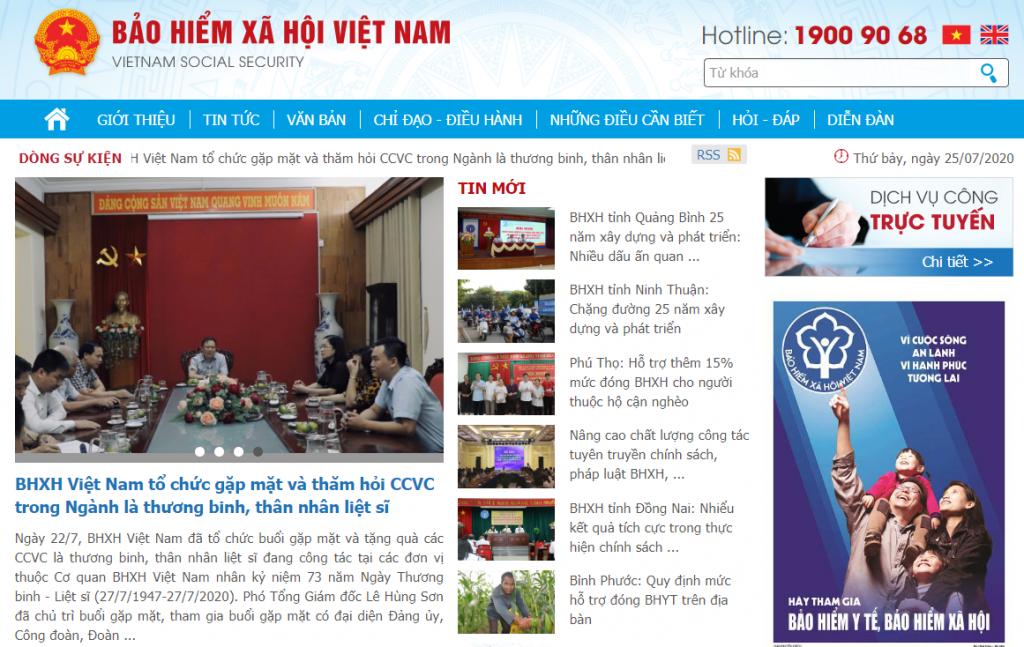 Cổng thông tin điện tử BHXH Việt Nam